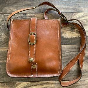 Patricia Nash Brown Leather Venezia Crossbody Bag
